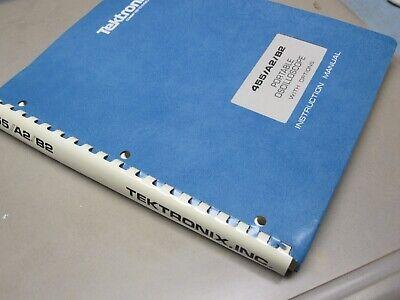 Tektronix 455 A2b2 Portible Oscilloscope With Options Instruction Manual