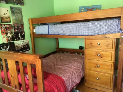 Bunkers Lo-Line Corner Bunk Bed Package including much more! Ringwood Maroondah Area Preview