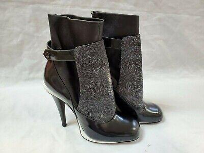 FENDI black ANKLE BOOTS shoes 40 US 9