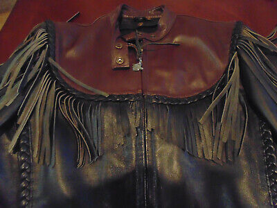 "⭐Vintage Ladies Harley Davidson ""Willie G"" Women's Leather Fringe Jacket MEDIUM"