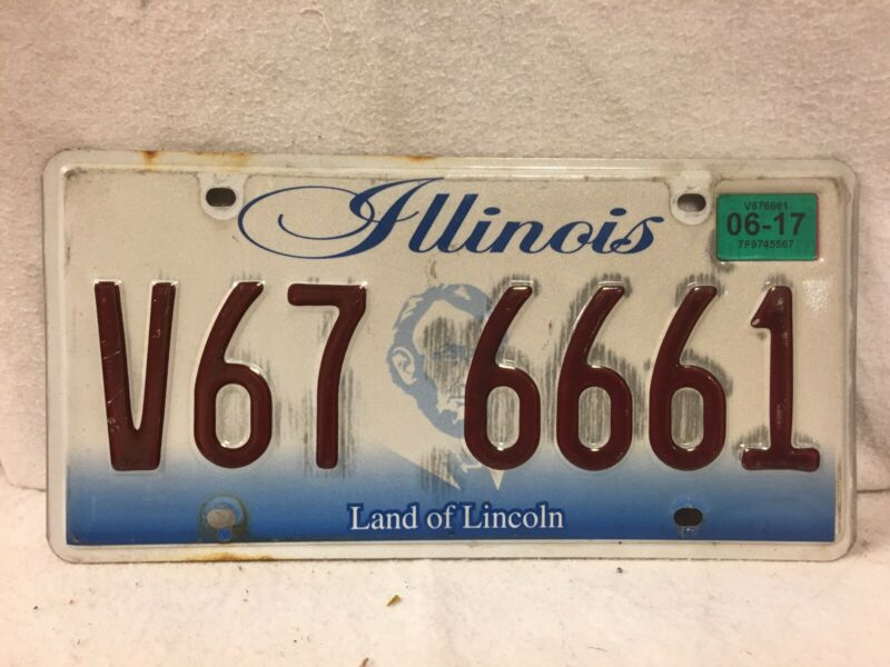 Illinois Triple 6's  License Plate