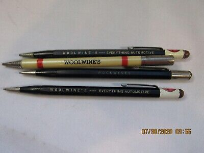 Lot of 4 Vintage WoolWine's Advertising AutoPoint Mechanical Pencils