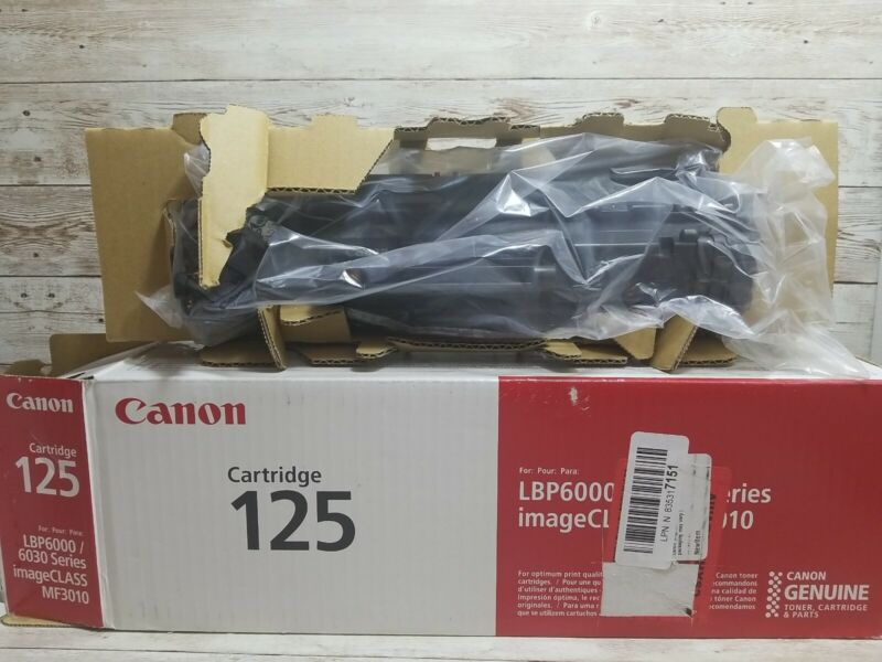 READ DESC! OPEN BOX Genuine Canon 125 Black Toner Cartridge