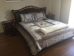 King size bed set suite table mirror and stool Kuraby Brisbane South West Preview