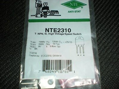 Nte2310 Npn Power Transistor To-218 Repl Ecg2310