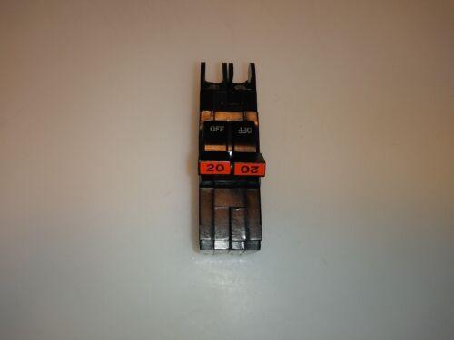 FPE NC220 2 POLE 20 AMP STAB LOK CIRCUIT BREAKER Red Handle
