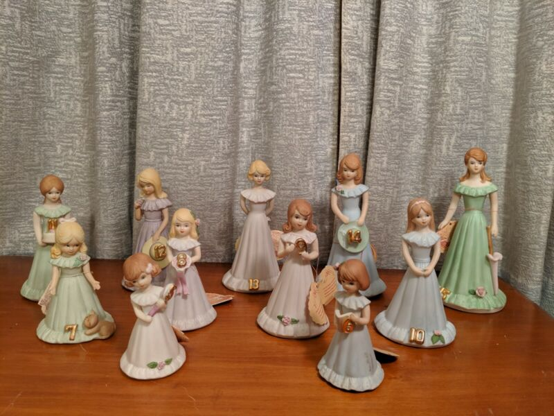 ENESCO GROWING UP~BIRTHDAY GIRLS SET OF 11 FIGURINES
