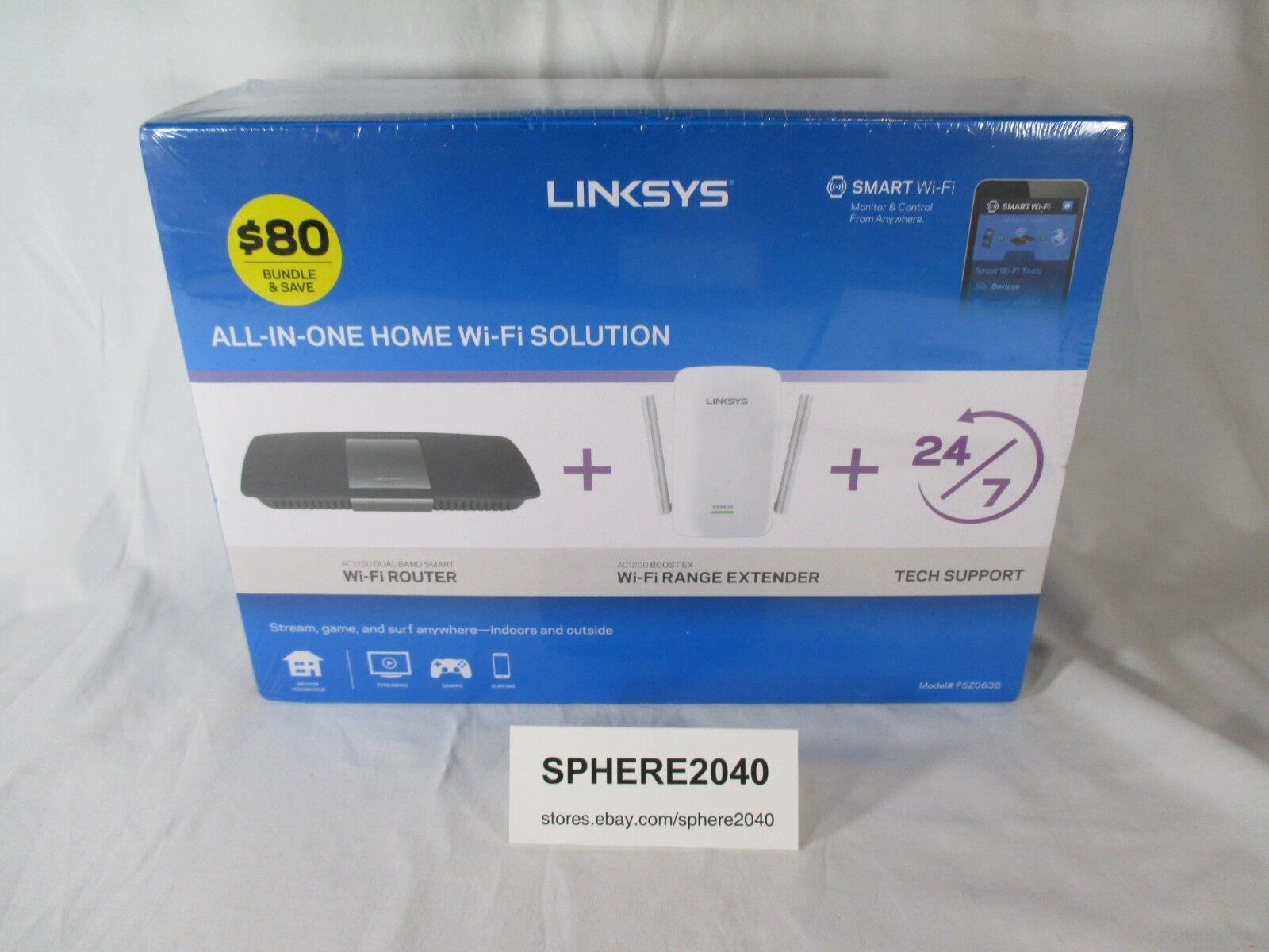 NEW Linksys AC1750 Dual-Band Smart Wireless Router w/ Range