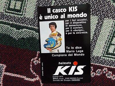 MARIO LEGA POSTCARD - 1977 250cc MOTORCYCLE WORLD CHAMPION - KIS HELMETS