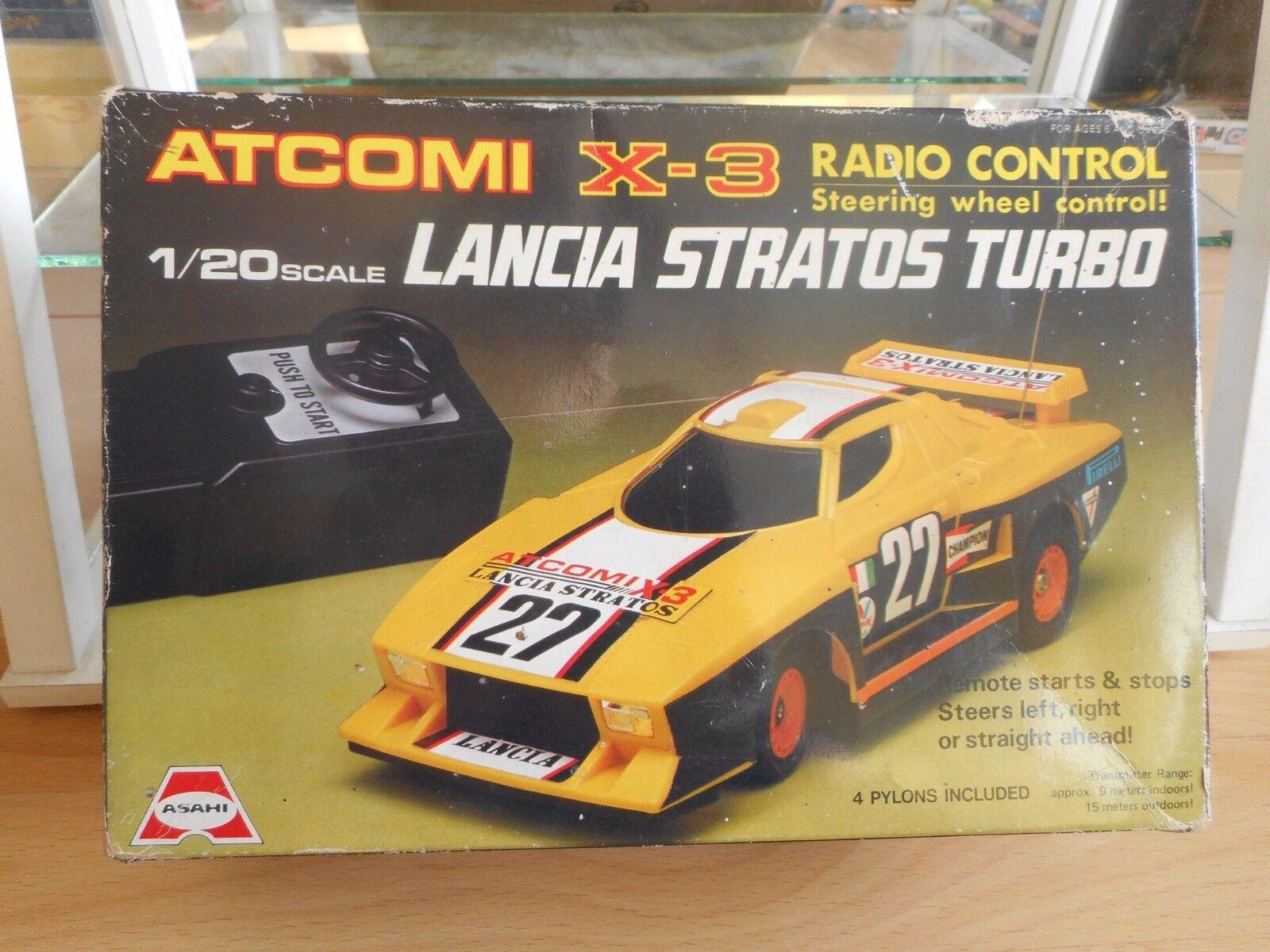 RC Asahi Lancia Stratos Turbo in Yellow on 1:20 in Box