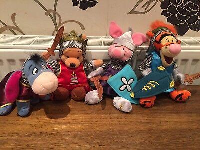 Disney Beanies Winnie the Pooh Knights Set Eeyore Tigger Pooh & Piglet St George segunda mano  Embacar hacia Mexico