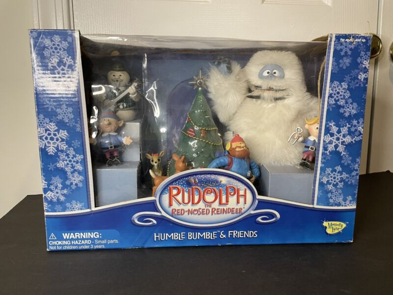 NEW NIB Rudolph the Red-Nosed Reindeer Humble Bumble and Friends Figurines Set