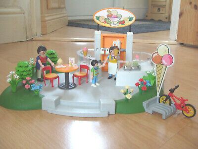 Playmobil 100% Complete Set 4134 Ice Cream Parlour Superset
