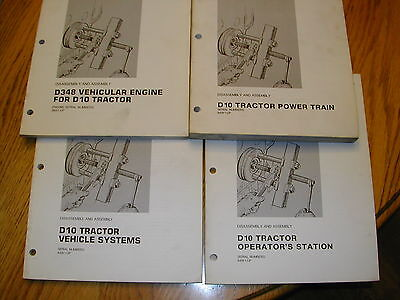 Cat Caterpillar D10 Service Manual Tractor Bulldozer Dozer Disassembly Assembly