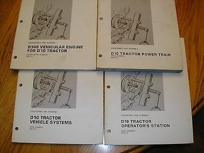 Cat Caterpillar D10 Service Manual Tractor Bulldozer Dozer Disassembly Assembly