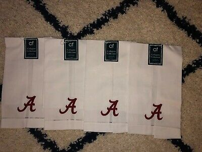 University Of Alabama Cotton Placemat Napkins Set Of 4 Linens Alabama University