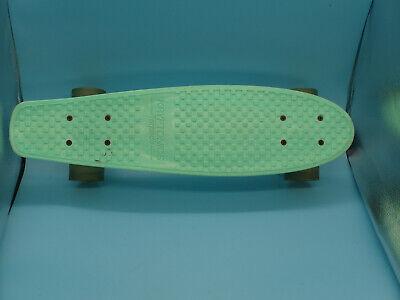 "KRYPTONICS TORPEDO 22"" Skateboard Penny Board Plastic Turquoise Deck 1965 Trucks"