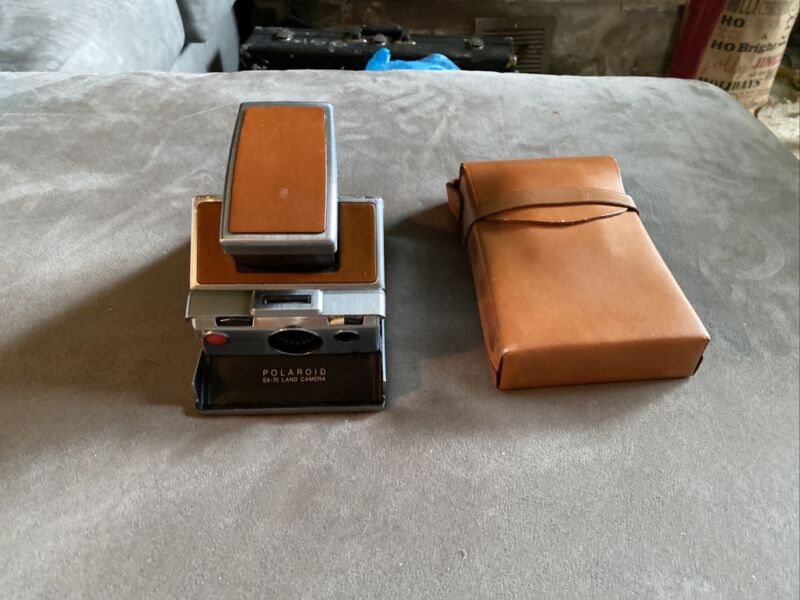 Vintage polaroid sx-70 Brown land camera. Very Good Condition With Case. LOOK!