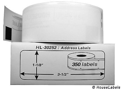Dymo 30252 Direct Thermal Address Labels 1-18 X 3-12 - 1 Roll Of 350