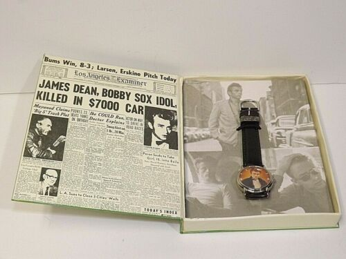 James Dean Watch Collection ~ James Dean Wrist Watch in Collectible Book Jacket
