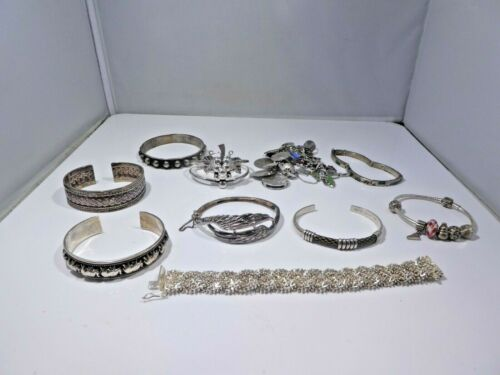 FASHIONABLE & WEARABLE STERLING SILVER BRACELET LOT 360 GRAMS