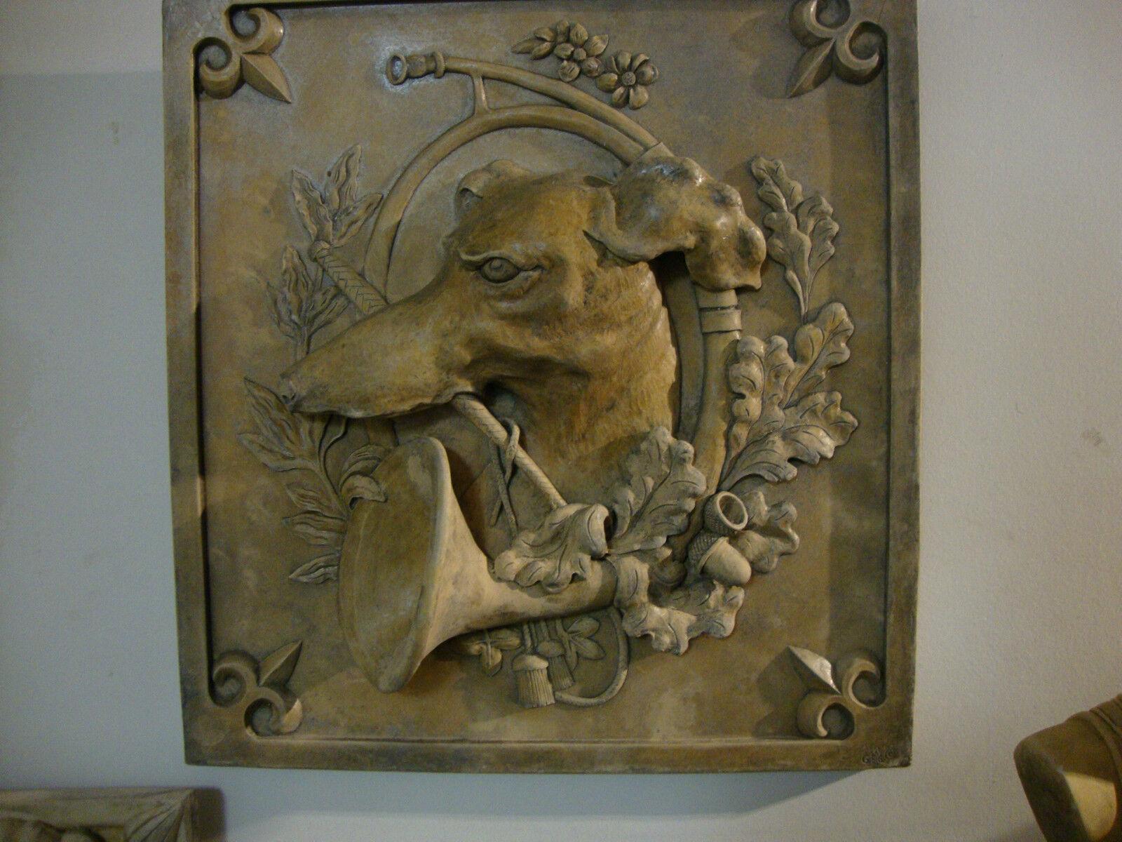 greyhound hunting dog wall plaque animal art home decor