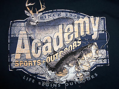 Academy Sports   Outdoors Store Retail Navy Longsleeve Graphic Print Tshirt S