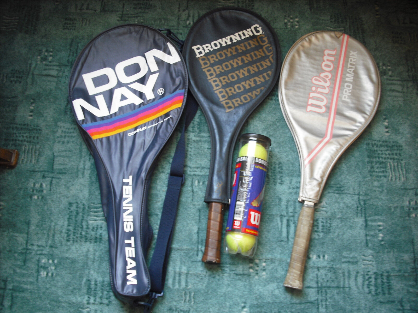 Tennis rackets. Browning and Wilson. Used