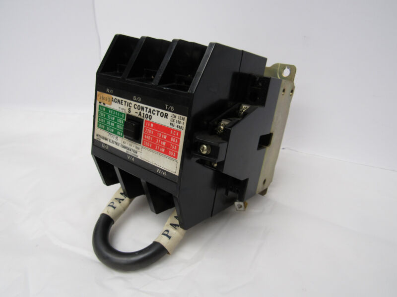 MITSUBISHI ELECTRIC CORPORATION MAGNETIC CONTACTOR TYPE S-A100, 100/110V COIL