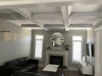 WAINSCOTING TRIMWORK CROWN MOULDING COFFERED WAFFLE CEILING