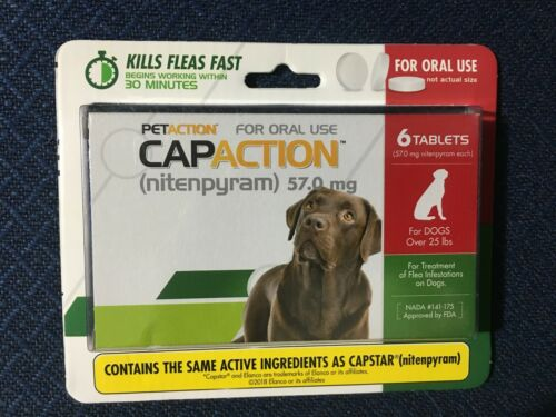 PETACTION CAPACTION FLEA TREATMENT FOR DOGS OVER 25 LBS EXP APRIL 2021 (5684)