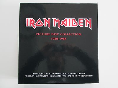 IRON MAIDEN picture disc collection 1980-1988 Box Set Lp.UNOPEN, MINT>NWOBH
