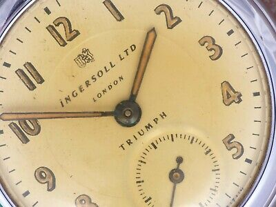 Ingersoll London Ltd 50s Vintage Triumph Radium Dial and Hands Parts/Restoration