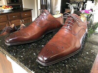 Magnanni Brown Leather Lace Up Oxford Men's Shoes Size 11.0 M