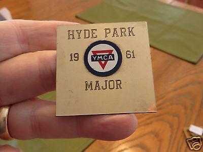 1961 METAL PLAQUE HYDE PARK Y.M.C.A. MAJOR 1961 COLOR LOGO Ma  Chicago IL YMCA