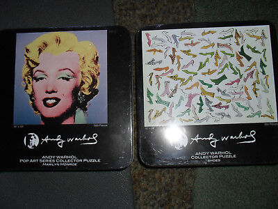 ANDY WARHOL Puzzles SHOES  Marilyn Monroe in collectible tin container pop art