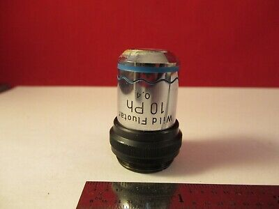 Wild Swiss Objective Phase Ph 10x Optics Microscope Part As Pictured 1e-b-59
