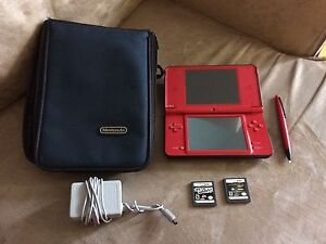 Nintendo DS XL w/games and case