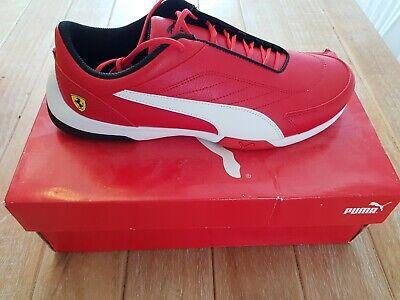Puma Rosso Corsa Ferrari Leather Trainers Uk 9 BNIB Offers!