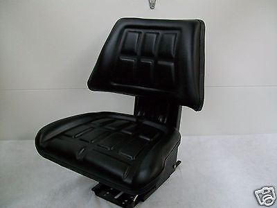 Black Trapezoid Waffle Spring Suspension Seat Farm Tractor Universal Fit Ay