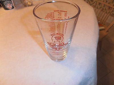 VINTAGE 2000 NEW ORLEANS SAINTS BULLDOG TAVERN GLASS W/ SCHEDULE