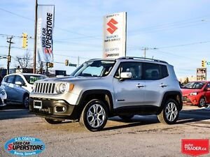 2018 Jeep Renegade Limited 4x4 ~Nav ~Backup Cam ~Heated Leather