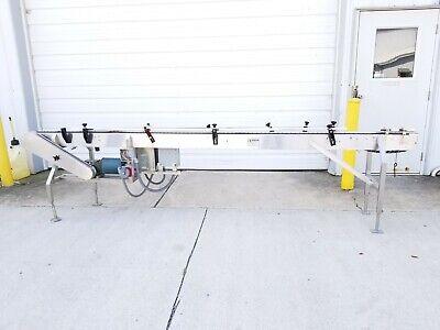 12252 - Nercon Stainless Steel Frame - 3 14 Belt Conveyor 116 Long Vari Driv