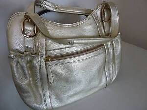 HANDBAG, WOMEN'S, ENZO ANGIOLINI, 100% LEATHER, GOLD, NEW South Guildford Swan Area Preview