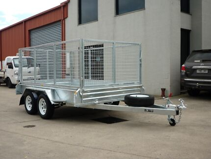10x6 Tandem Trailer Galvanised 1000mm Cage Fully Welded Seaford Frankston Area Preview