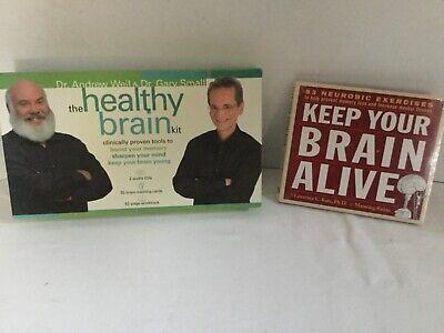 Healthy Brain Kit Memory Activity Set Andrew Weil CDs Workbook Cards Bonus DVD