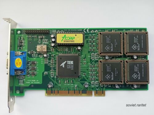 """Rare Tseng Labs ET6100 4MB """"Acorp"""" 128-Bit MDRAM Fast PCI Video Graphics Card"""