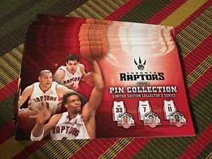 Nine Toronto Raptors 2008 pin collection albums