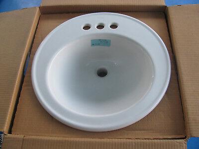 New Kohler Brookline 2204-4-0 Self-Rimming Undercounter Lavatory Bathroom (Brookline Self Rimming Bathroom Sink)