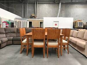 TODAY DELIVERY QUALITY MADE MODERN 9 pcs dining table and chairs